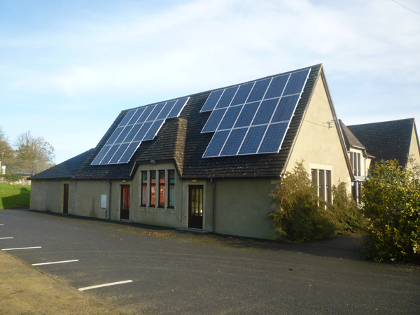 PV Cells at Filleigh Village Hall